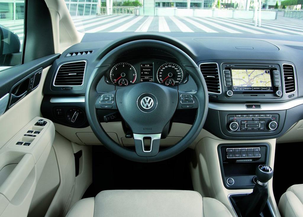 VW Sharan behind the wheel
