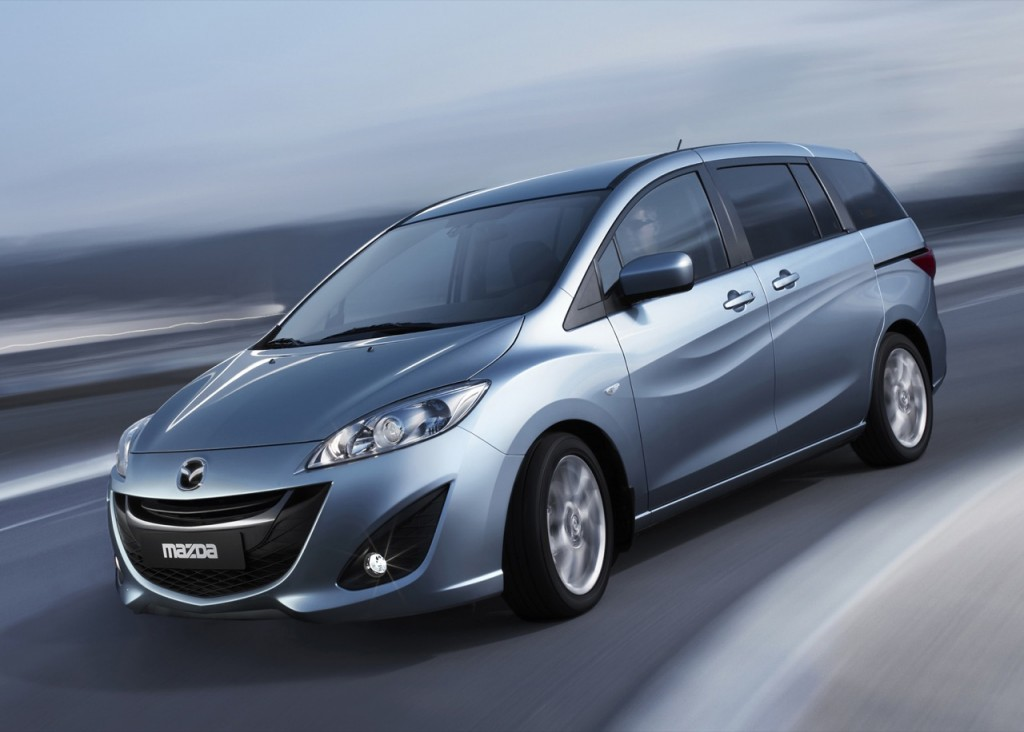 Mazda 5 on the road