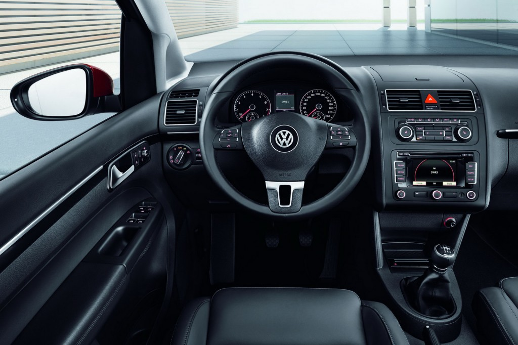 Volkswagen Touran behind the wheel