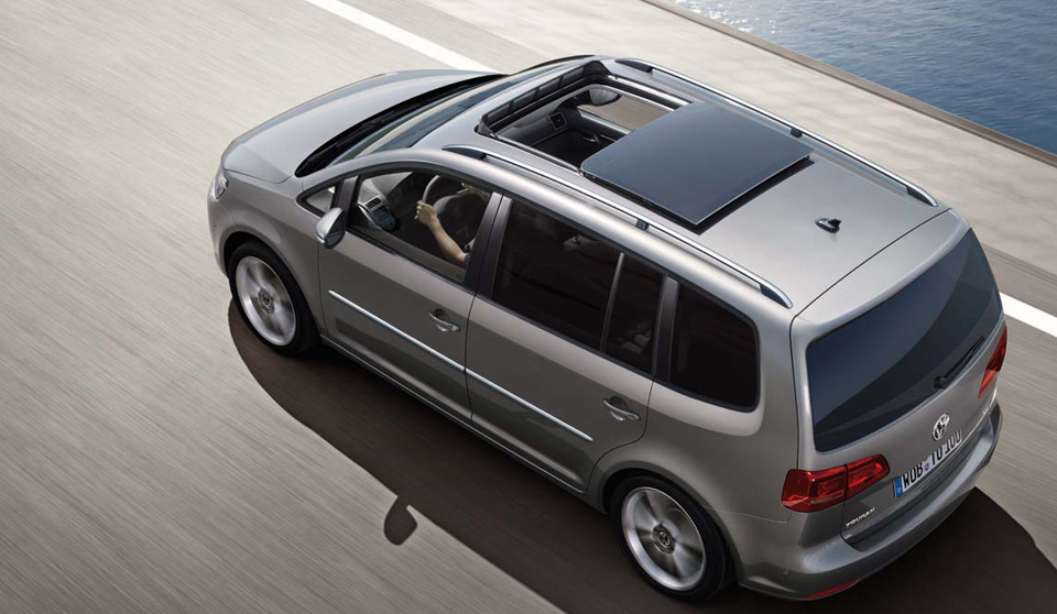 Volkswagen Touran on the road