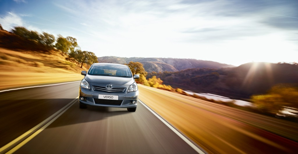 toyota Verso on the road