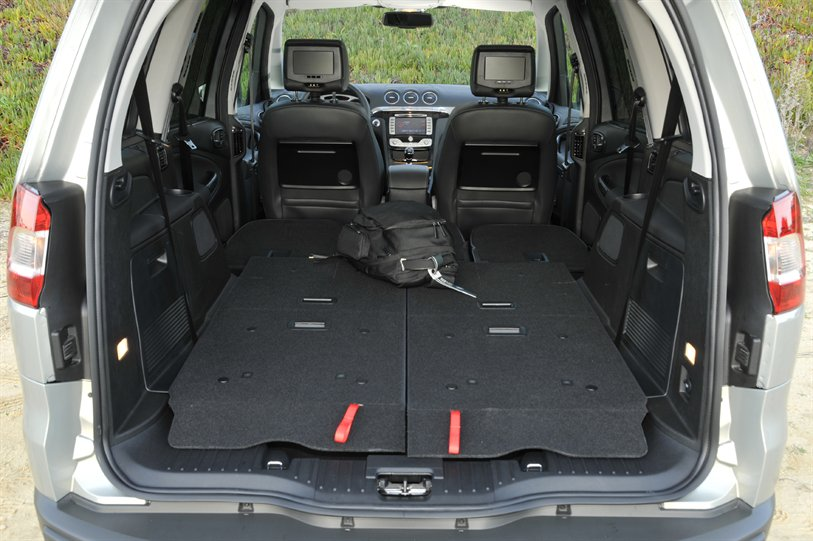 Ford Galaxy seats folded down